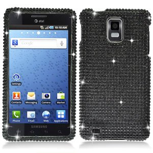 For Samsung Galaxy S infuse i997 Cover Hard Case Crystal Bling Black