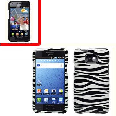 For AT&T Samsung Galaxy S II SGH-i777 Cover Hard Case Zebra +Screen 2 in1