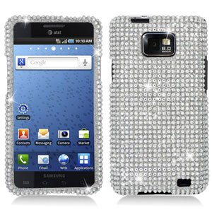 For AT&T Samsung Galaxy S II SGH-i777 Cover Hard Phone Case Crystal Bling Clear