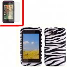 For HTC Rhyme Cover Hard Phone Case Zebra + Screen 2-in-1