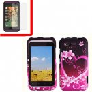 For HTC Rhyme Cover Hard Phone Case Love + Screen 2-in-1