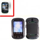 For Pantech Pursuit II Cover Hard Case Carbon Fiber +Screen 2-in-1