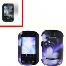 For Pantech Pursuit II Cover Hard Case B-Flower +Screen 2-in-1