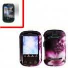 For Pantech Pursuit II Cover Hard Case L-Flower +Screen 2-in-1