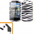 For Huawei Impulse U8800 / Ideos X5 Car Charger +Hard Case Zebra 2-in-1