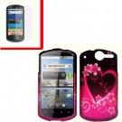 For Huawei Impulse U8800 / Ideos X5 Cover Hard Phone Case Love + Screen 2-in-1