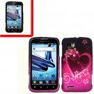 For Motorola Atrix 2 4G MB865 Cover Hard Case Love + Screen Protector 2-in-1