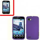 For Motorola Atrix 2 4G MB865 Cover Hard Case Purple + Screen Protector 2-in-1