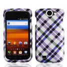 For Samsung Exhibit II 4G T679 Cover Hard Case Purple Plaid