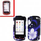 For Pantech Hotshot Cover Hard Case Rubberized B-Flower +Screen 2-in-1