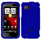 FOR HTC Rezound 4G Cover Hard Phone Case Rubberized Blue