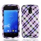 For Samsung Galaxy Nexus Hard Cover Phone Case Purple Plaid