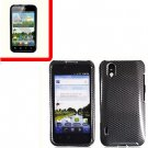 For LG Marquee LS855/ Optimus Black Cover Hard Case Carbon Fiber +Screen