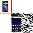 For AT&T Samsung Galaxy S II Skyrocket Cover Hard Case Zebra +Screen