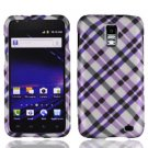 For AT&T Samsung Galaxy S II SkyRocket Cover Hard Case Purple Plaid