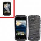 For LG MyTouch Q 4G Cover Hard Case Carbon Fiber +Screen
