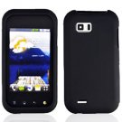 For LG Eclypse 4G Cover Hard Case Rubberized Black