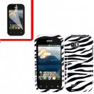 For LG Eclypse 4G Cover Hard Case Zebra +Screen Protector