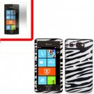 For AT&T Samsung Focus Flash Cover Hard Case Zebra +Screen 2 in1