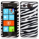 For Samsung Omnia W Cover Hard Case Zebra