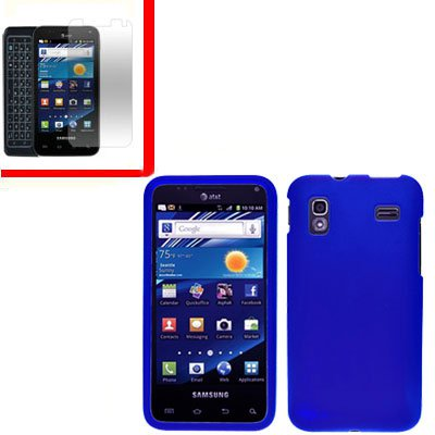 For Samsung Galaxy S Glide Cover Hard Case Blue +Screen 2 in1