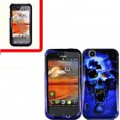 For LG MyTouch 4G / Optimus Sol Cover Hard Case B-Skull +Screen 2in1