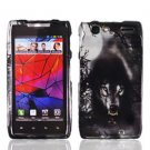 For Motorola Droid Razr Cover Hard Case Wolf