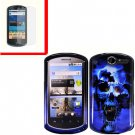 For Huawei Ideos X5 / impulse U8800 Cover Hard Phone Case B-Skull + Screen 2-in-1