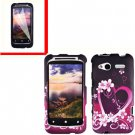 For HTC Radar 4G Cover Hard Case Love + Screen Protector 2-in-1