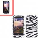 For HTC Radar 4G Cover Hard Case Zebra +Screen Protector 2-in-1