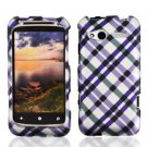 FOR HTC Radar Cover Hard Phone Case Purple Plaid