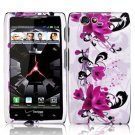 For Motorola Droid Razr Cover Hard Case W-Flower