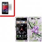 For Motorola Droid Razr Cover Hard Case G-Lily +Screen 2-in-1