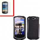 For Huawei Impulse U8800 / Ideos X5 Cover Hard Phone Case Carbon Fiber + Screen 2-in-1