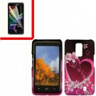 For Verizon LG Spectrum Cover Hard Case Love +Screen 2in1