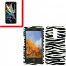 For Verizon LG Spectrum Cover Hard Case Zebra +Screen 2in1
