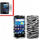 For Samsung Galaxy S Glide Cover Hard Case Zebra +Screen 2 in1