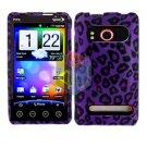 For HTC Evo 4G Cover Hard Case P-Leopard +Screen 2-in-1