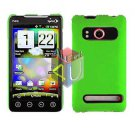 For HTC Evo 4G Cover Hard Case Neon Green +Screen 2-in-1