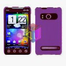 For HTC Evo 4G Cover Hard Case Purple +Screen 2-in-1