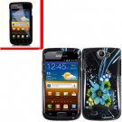 For Samsung Exhibit II 4G T679 Cover Hard Case M-Flower +Screen Protector