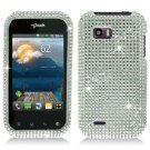 For LG Mytouch Q C800 Cover Hard Case Crystal Bling Clear