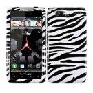 For Motorola Droid Razr Maxx Cover Hard Case Zebra
