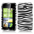 For Samsung Focus S Cover Hard Case Zebra