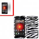 For Motorola Droid 4 XT894 Cover Hard Case Zebra +Screen 2-in-1