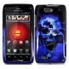 For Motorola Droid 4 XT894 Cover Hard Case Blue Skull