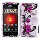 For Motorola Droid 4 XT894 Cover Hard Case W-Flower