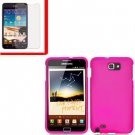 For Samsung Galaxy Note Cover Hard H-Pink Case +Screen Protector