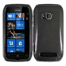 For Nokia Lumia 710 Cover Hard Carbon Fiber Case