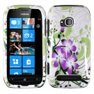 For Nokia Lumia 710 Cover Hard Green Lily Case